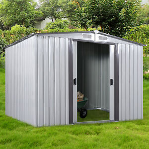 DIY Backyard Metal Garden Shed Storage Kit Building