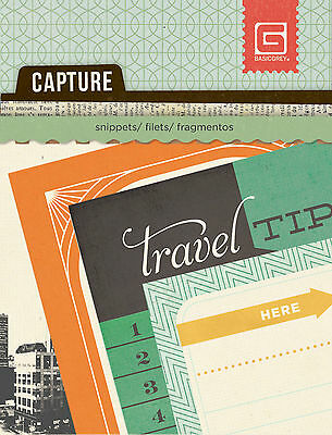 BasicGrey Mini-Snippets-CARTE POSTALE scrapbooking (24) Sheets TRAVEL