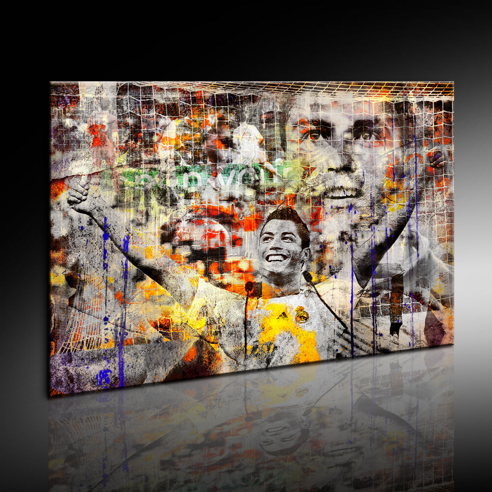 LeinwandBild LeinwandBild LeinwandBild  Cristiano Ronaldo  Fotoleinwand  Kunstdruck Wandbild Poster  N107 3cfd1f