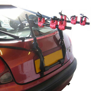 NEW-3-BICYCLE-CARRIER-CAR-RACK-BIKE-CYCLE-UNIVERSAL-FITS-MOST-CARS-Incl-STRAPS