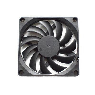 DC 12V Black 80mm Square Plastic Kühlung Fan For Computer PC Case