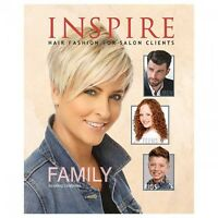 INSPIRE VOL. #102 SALON HAIRSTYLING BOOK FAMILY HAIR STYLES HARD COVER 72 PAGES