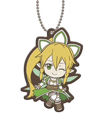 Sword Art Online SAO Asuna Aincrad Character Capsule Rubber Key Chain Mascot
