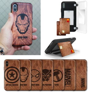 Marvel-Avengers-Wood-Mirror-Card-Case-for-Samsung-Galaxy-Note10-10-Note9-Note8