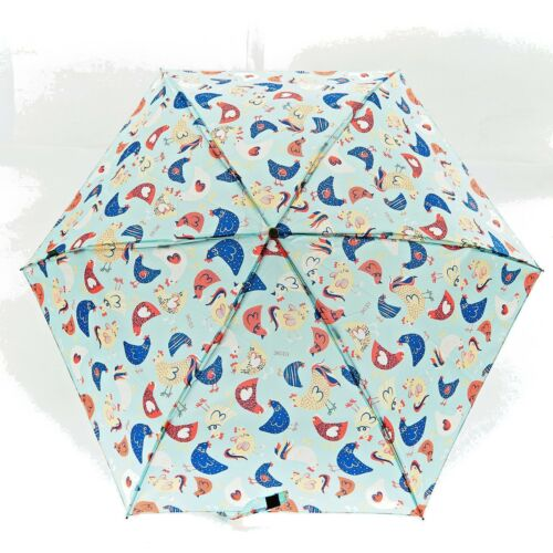 Chicken Hen Umbrella Mini Lightweight Folding Handbag Umbrella Animal Lovers