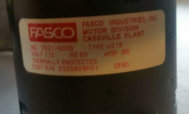 3555 B16 AP FASCO INDUCER FAN 7021-9055 D330809P01