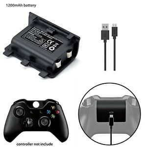 NEW-PLAY-AND-CHARGE-KIT-1200mAh-RECHARGEABLE-BATTERY-FOR-XBOX-ONE-1YR-WARRANTY