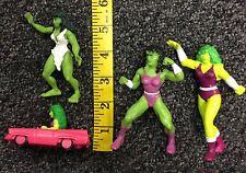 1987 1990 1996 Vintage She Hulk PVC Mixed Figure Lot Used free shipping
