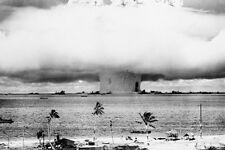 "Atomic Bomb Test Explosion Bikini Atoll Photo Poster 24"" x 36"" Free US Shipping"
