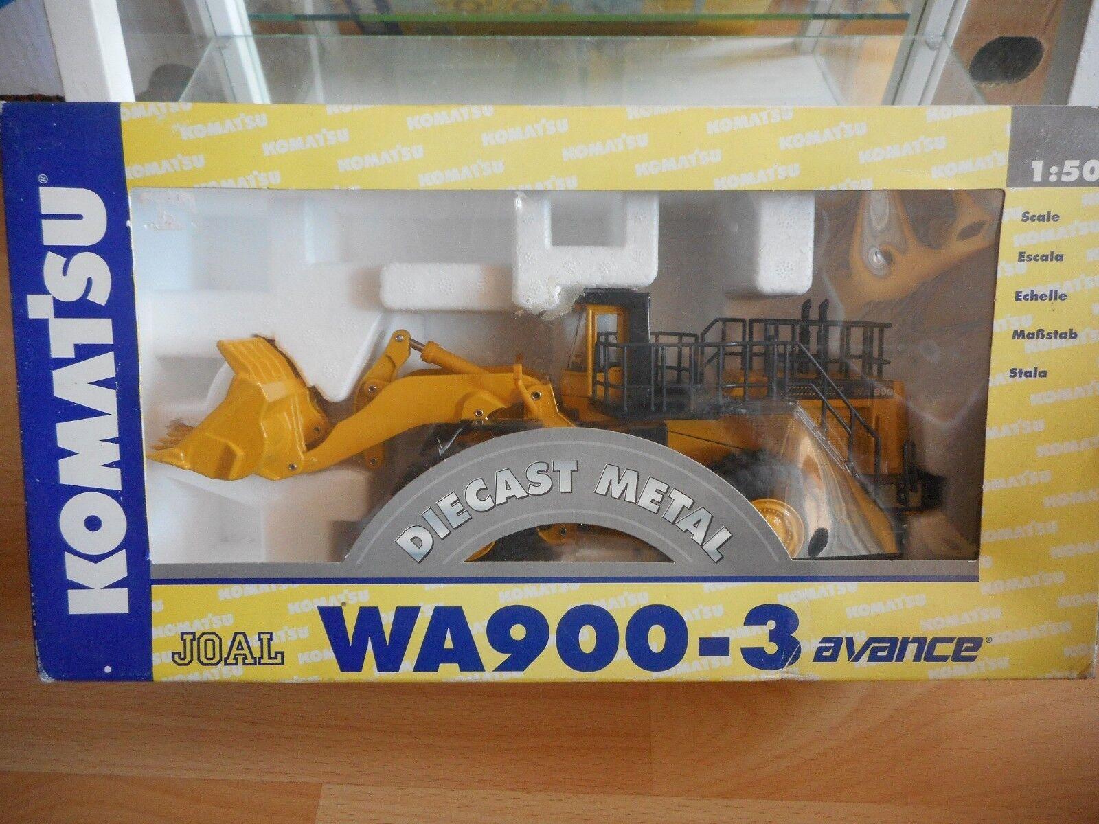 Joal Komatsu WA900-3 Avance Wheel Loader in giallo on 1:50 in Box  Ref 265