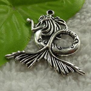 free-ship-32-pcs-tibet-silver-mermaid-pendant-44x41mm-3959