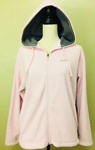 Reebok-Women-s-Size-Medium-M-Fleece-Jacket-Pink-Hoodie-Full-Zip-Up