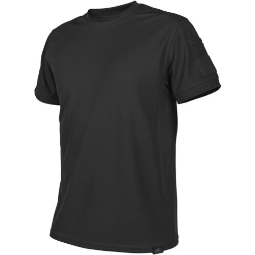 HELIKON TACTICAL MENS POLICE GYM T-SHIRT TOPCOOL SECURITY SPORT TOP BLACK