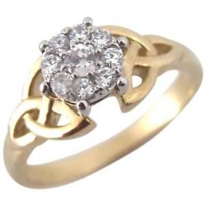 Diamond-Trinity-Knot-Ring-Solid-9ct-Gold-Natural-Diamonds-UK-Hallmarked