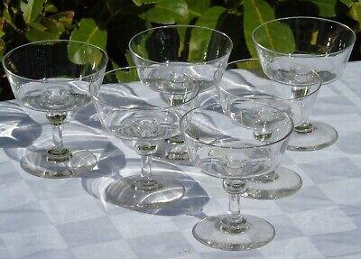 Baccarat? Service De 6 Coupes à Champagne En Cristal Soufflé. Circa 1900