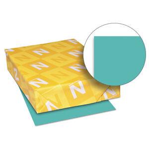 Neenah-Paper-Exact-Brights-Paper-8-1-2-x-11-Bright-Aqua-50-lb-500-Sheets-Ream