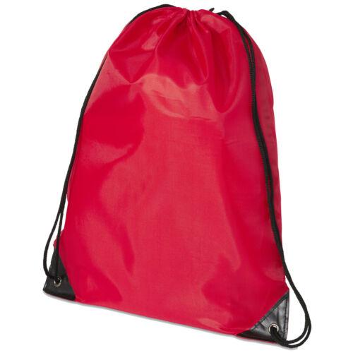 1 3 5 10 Pack of Red Premium Drawstring Book Bag Sport Gymsac Swim PE School Lot