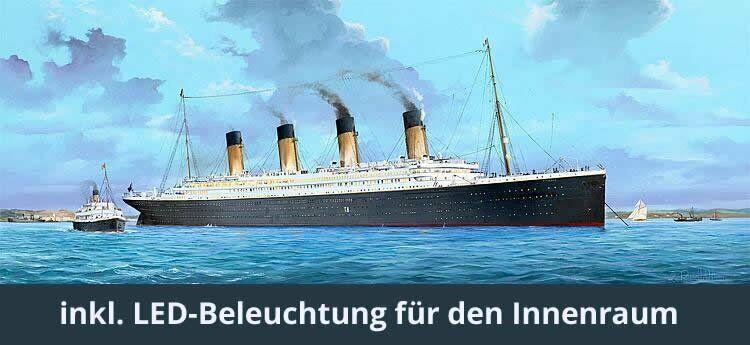 SONERModelllL   TRUMPETER TITANIC MIT LED BELEUCHTUNG IN 1 200 LIMITIERT