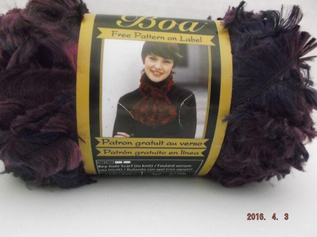 5 Skeins Bernat Boa Parrot Eyelash Yarn For Sale Online Ebay