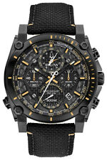 Bulova Precisionist Men's Quartz Black Nylon Strap 46mm Watch 98B318