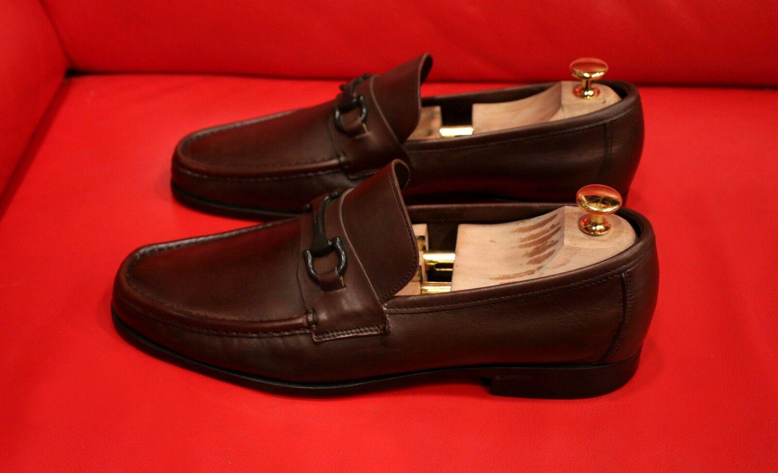 Vestido de bits    Ferragamo Excelente Marrón Sin Cordones Mocasín Zapatos EE