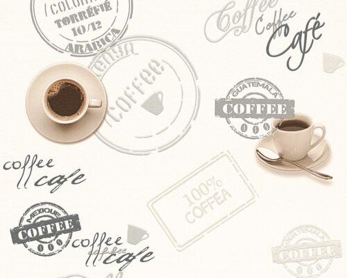 Vinyl Tapete Coffee Cafe creme braun Küche Esszimmer Cocktail As Creation kaffee