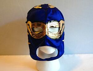 Image is loading BLUE-LUCHADOR-KIDS-Mask-lucha-libre-wwe-libre- & BLUE LUCHADOR KIDS Mask lucha libre wwe libre Halloween NEW Costume ...