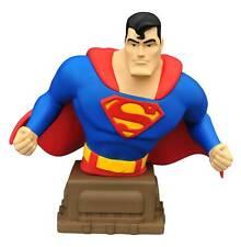 "2016 DC COMICS SUPERMAN THE ANIMATED SERIES SUPERMAN 6"" RESIN BUST MIB NEW"