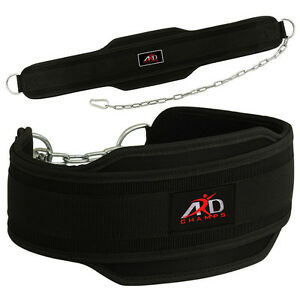 DEFY Weight Lifting Neoprene Dipping Belt Exercise Fitness Gym Body Building Red