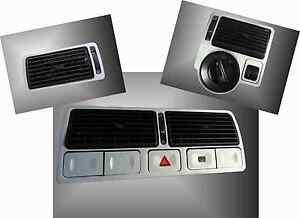 Brushed-Aluminium-effect-Air-Vent-trims-TDI-GTI-R32-to-fit-VW-Golf-Mk4-Jetta