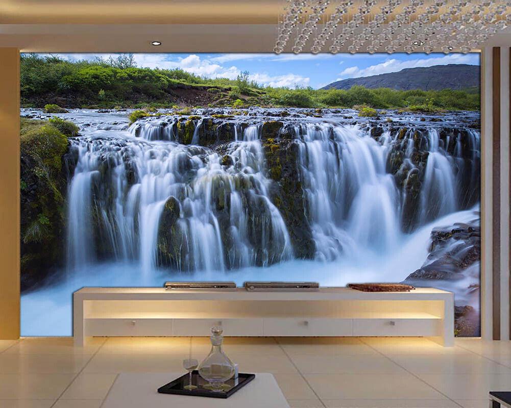 Rushing Waterfall 3D Full Wall Mural Photo Wallpaper Printing Home Kids Decor