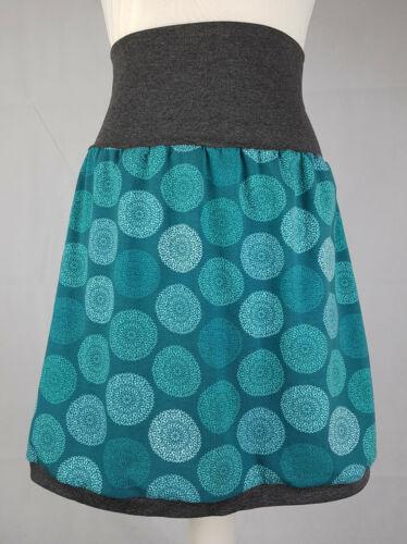 Rock Mandala handmade elastisch S M L XL XS Jersey petrol blaugrün DIY Mandalas