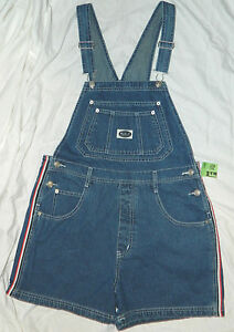 New Womens R.V.T. Jeans Brand Denim Overall Shorts size