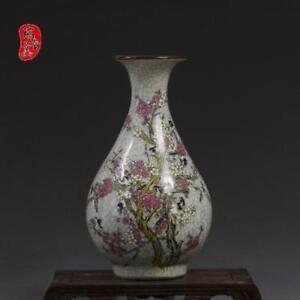 China-old-antique-Porcelain-jingdezhen-Hand-painting-QIANLONG-plum-blossom-vase