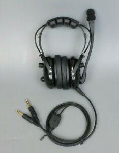 RUGGED-AIR-RA900-GENERAL-AVIATION-PILOT-HEADSET-GA-STEREO-DUAL-PLUGS-W-MP3-INPUT