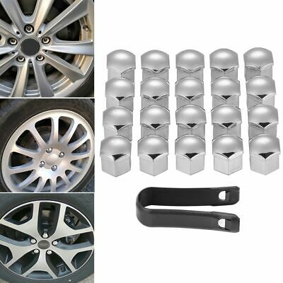 Practical Universal Silver Auto Plastic Lug Bolt Cap Car Wheel Nut Cover