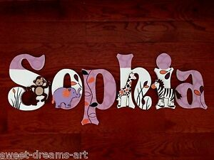 Personalized Hand Painted Wood Letters Cocalo Jacana Crib