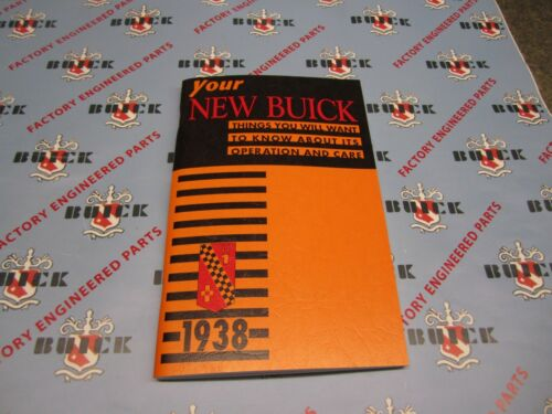 1938 Buck Owners ManualFull Color CopySpecialCenturyRoadmaster