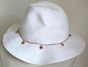 8c74ffbfb Nordstrom Halogen Straw Panama Hat Crochet Trilby Sun Hat white gold ...