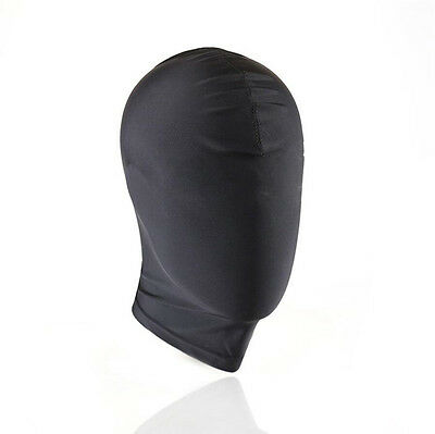 Black Spandex Mask Hood wet look PVC full face covered PRIVATE....