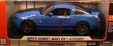 SHELBY 1:18 SCALE DIECAST METAL GRABBER BLUE 2013 SHELBY GT500 MUSTANG