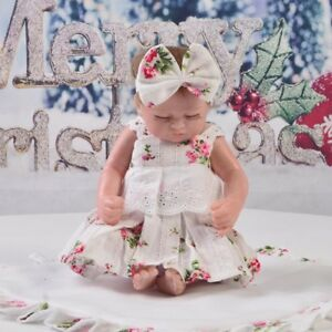 Lovely-Flowers-Dress-Underpants-for-10-034-11-034-Reborn-Baby-GIrl-Dolls-Clothes