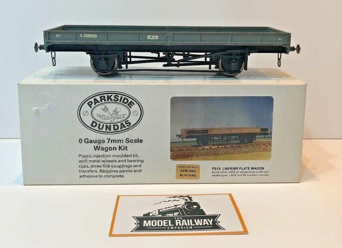 PARKSIDE DUNDAS KIT BUILT O GAUGE - PS19 - 21T LNER BR grau PLATE WAGON E239569