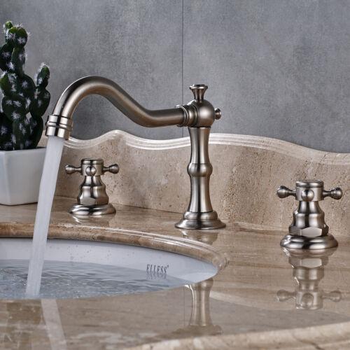 "8/"" Widespread Bathroom Basin Faucet Vanity Sink 2 Knob Tub Waterfall Mixer Tap"