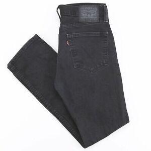 Vintage-Levi-039-s-511-Noir-Denim-Slim-Straight-Jeans-Homme-W31-L30