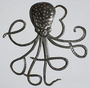 Image Is Loading Large Octopus Metal Sculpture Home Decor Ideas Oil