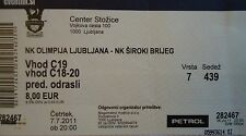 TICKET UEFA EL 2011/12 Olimpija Ljubljana - NK Siroki Brijeg