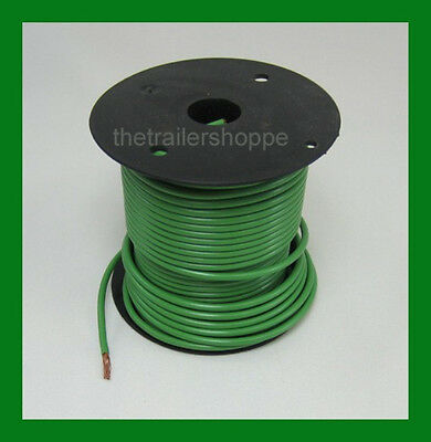 Trailer Light Cable Wiring Harness 14 Gauge 100/' Wire Spool Green Camper Trailer