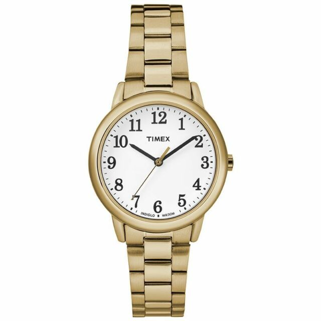 Timex TW2R23800 Women s Stainless Steel Gold Tone Bracelet Watch Easy Reader 9307813cfb5