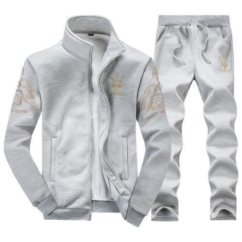 Hot Sell Men/'s Fashion Athletic Apparel Sportswear Coat Jacket Pants Slim Fit